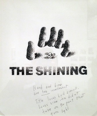 saul bass the shining film poster